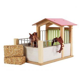 Kids Globe Horsebox Wood 1:24