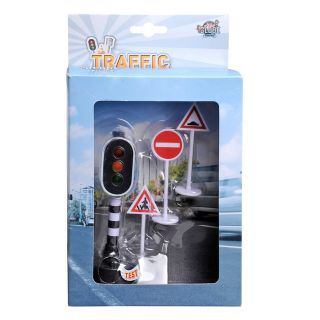 Traffic light with traffic signs