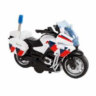 2-Play Die-cast Police Motorbike NL with Light and Sound, 13cm
