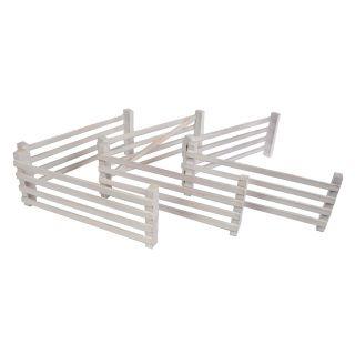 Kids Globe 6 Wooden Fences 1:24 White