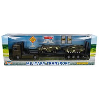 2-Play Die-cast Truck Transporter with Tanks, 24cm