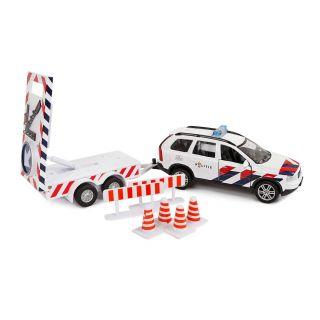Kids Globe Die-cast Police Volvo XC90 with Arrow Car NL