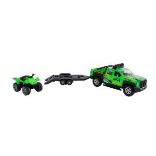 Kids Globe Terrain Vehicle with Trailer and Quad Light and Sound