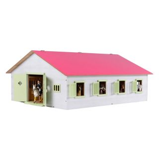 Kids Globe Horse stable with 7 boxes, 1:24