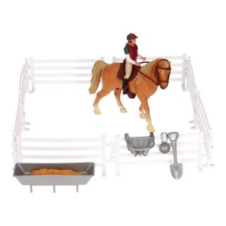 Playset Horse, Rider with Accessories, 1:24