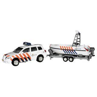 Police Car + Boat trailer