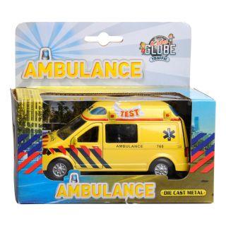 Kids Globe Ambulance avec son et lumière en métal