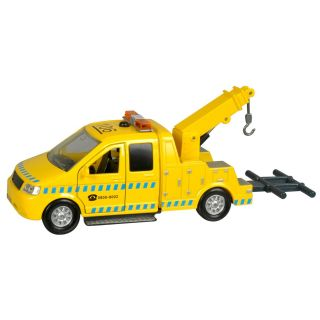 Towing truck with light and sound