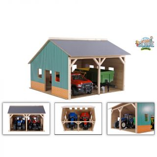Kids Globe Shed For 2 Tractors, 1:16
