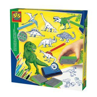 SES Kit de tampons dinosaures