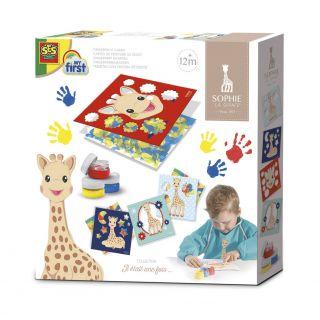 SES Sophie la girafe - Cartes à peindre au doigt