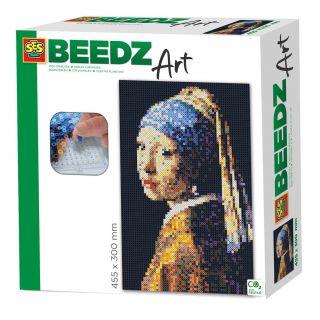 SES Beedz art - Vermeer - La Jeune Fille à la perle