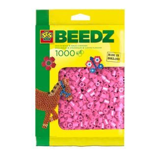 SES Ironing beads-pink, 1000pcs.