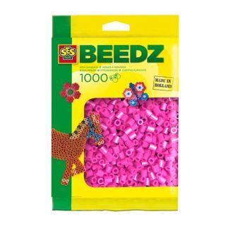 SES Perles à repasser 1000 Rose Néon
