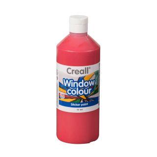 Creall Window Paint Red, 500ml