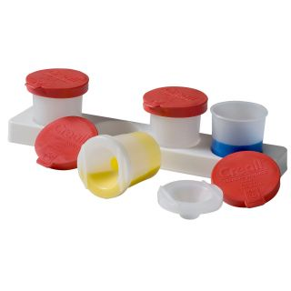 Holder with Anti-spill pots 320ml, 4pcs.