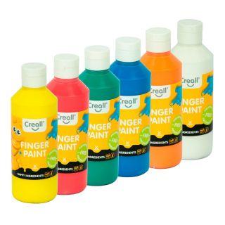 Creall Finger Paint Set Preservation Free, 6x250ml.