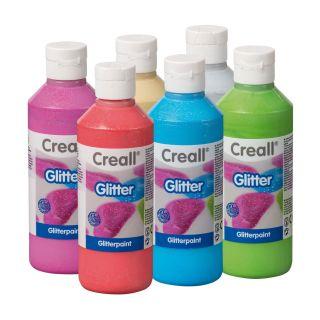 Creall Glitter paint, 6x250ml