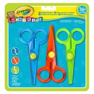 Crayola Mini Kids - Children's scissors, 3 pieces.