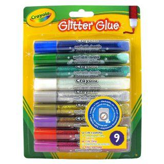 Crayola Glitter adhesive tubes, 9 pcs.