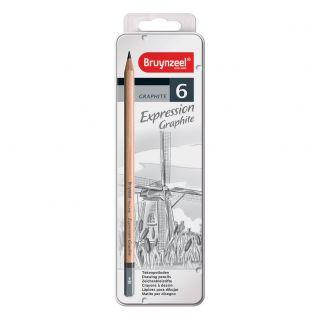 Bruynzeel Expression Graphite Pencils, 6pcs.