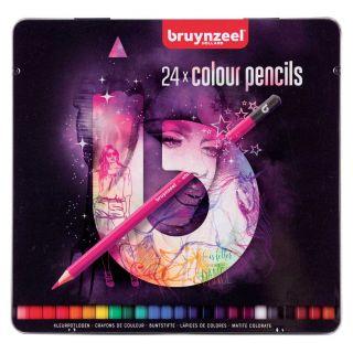Bruynzeel Fashion Tin Colored pencils, 24st.