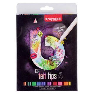 Bruynzeel Felt-tip pens Fashion, 12pcs.