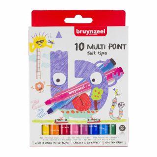 Bruynzeel Kids Zigzag Felt-tip pens, 10 pcs.