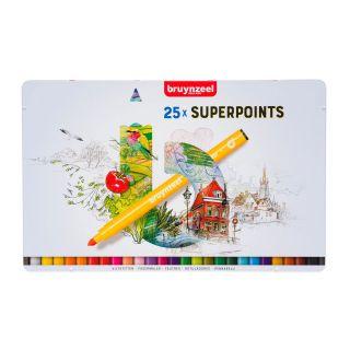Bruynzeel Felt-tip pens Superpoint, 25 pcs.