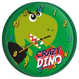 Wall clock Crazy Dino