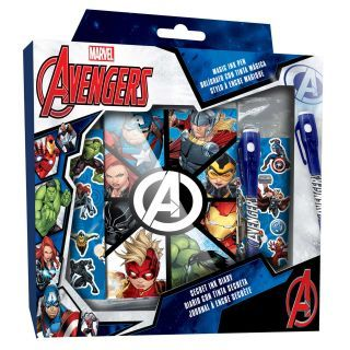 Diary with Stickers and Secret Code Pen - Avengers