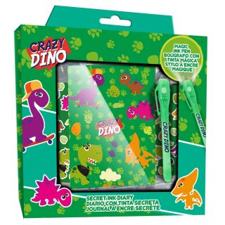 Diary with Stickers and Secret Code Pen Dinosaur