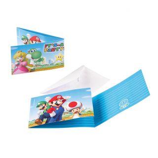 Super Mario Invitations, 8st.