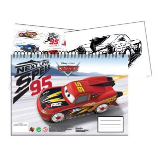 Cars 3 Sketchbook A4 with Stickers