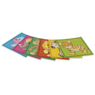 PlayMais Mosaic Cards Decorating Zoo