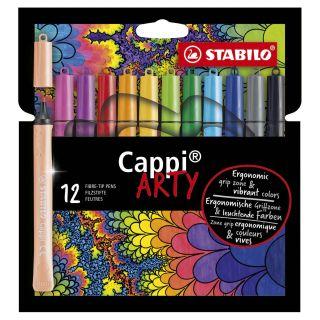 STABILO Cappi Felt-tip pens ARTY, 12 pieces.