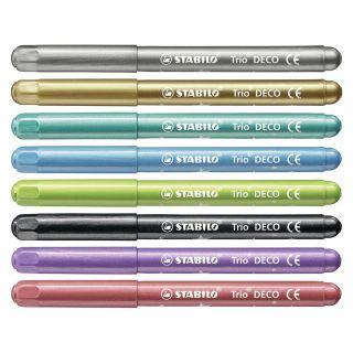 STABILO Trio Deco Metallic Felt-tip pens Case, 8 pcs.
