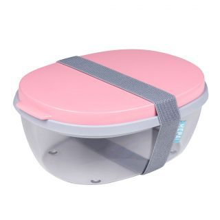 Mepal Salad box Ellipse - Nordic Pink