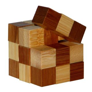 3D Bamboo Brain puzzle Snake Cubes **