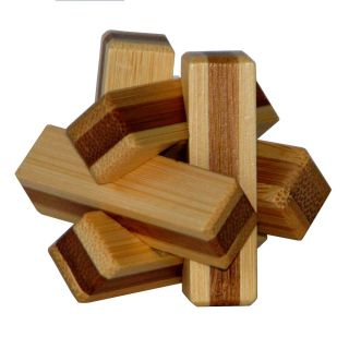 3D Bamboo Brain puzzle Firewood **