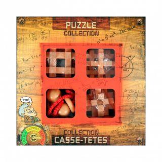 Wooden Brain Puzzles Extreme, 4pcs.