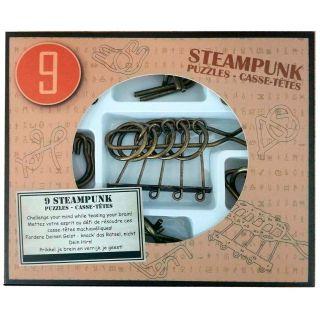Steampunk Brain Puzzles Brown, 9pcs.