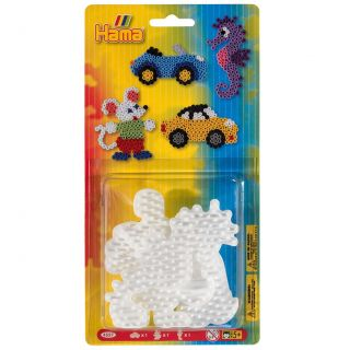 Hama Ironing Beads Plate Small, 3 pieces.