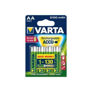 Battery rechargeable Varta 4xAA 2100mAh ready2use