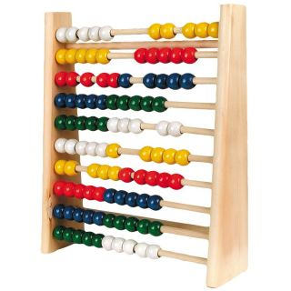 Wooden abacus, 25x29 cm