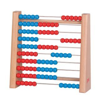 Wooden abacus, 17x16.5 cm