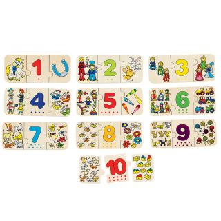 Wooden Puzzle Learning Counting, 30dlg.