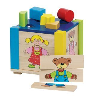 Jigsaw puzzle-and shapes cube