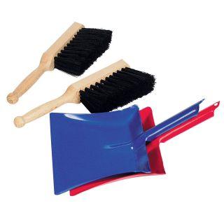 Broom and dustpan Metal