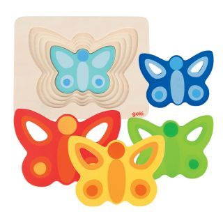 Butterfly puzzle, layers 5 layers